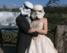 Stormtrooper bride and groom