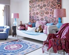 Would love for my daughter's room to look like this.  #MartinLawrenceBullard  #ElleDecor.