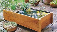 DIY Deck Top Pond by lowes #DIY #Planter #Pond