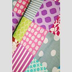 Piece Patchwork - Pastel - Echino 2012 linen blend fabric by Etsuko Furuya