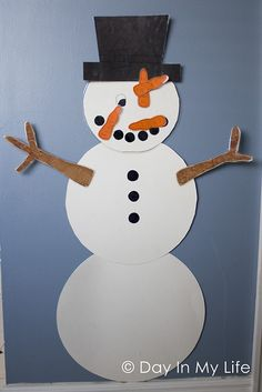 """A Day In My Life: Snowman Party - great ideas, including """"Pin The Nose On the Snowman"""""""