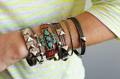 DIY: studded bangles