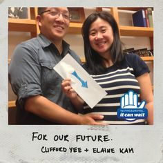 """Reason 95 #ItCanWait: """"For our future."""" Take the pledge to never text and drive again at itcanwait.com"""