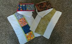 Cloth diaper burp rags with decorative panel.