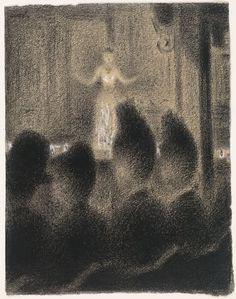 Georges-Pierre Seurat (French, 1859–1891)  At the Concert Européen (Au Concert Européen)  Date:c. 1886-88Medium:Conté crayon and gouache on ...