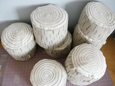 Wood log pillows