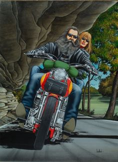 """Wine Country / 50's Style Biker"" - Originals - All Artwork - David Mann - Motorcycle Art | Fine Art World"