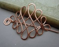 Large Celtic Hair Pin or Shawl Pin  Copper by nicholasandfelice, $27.00