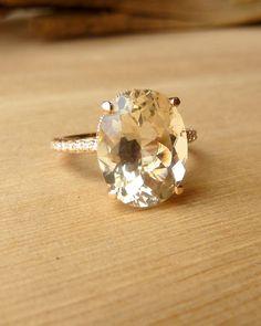 Oregon Sunstone and Diamond Ring. Have you ever heard of an Oregon Sunstone?! I love this!!