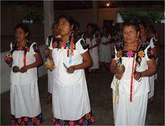 Mujeres náhuas en un ritual