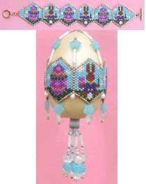 Instant Download! Easter Bunny Artist Egg or Bracelet Pattern