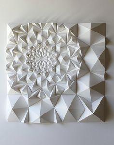 geometric sculpture / matthew schlian