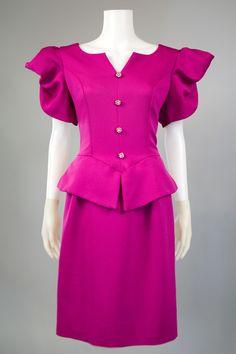 1980s Clothing Trend Peplum Dress