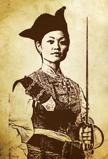 "The picture is of Ching Shih, a famous female pirate in late Qing China. Ching Shih's real name is unknown as is where she was born. ""She was born in 1785 and died at the age of 69 in 1844."