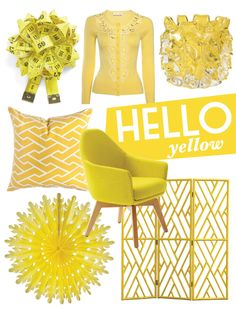 Hello Yellow blog post featuring some of our favourite yellow products on the market. http://www.adoremagazine.com/blog/