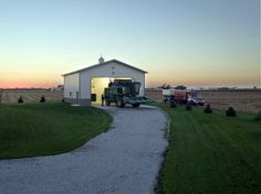 Morton Buildings farm shop in Illinois. build farm, illinoi, farm shop, shop idea