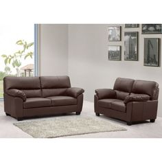 Mayfair Dark Brown Leather Sofa Collection