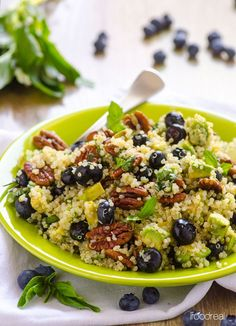 blueberry-avocado-toasted-pecan-quinoa-salad-recipe | i food real