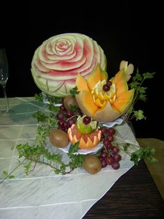 fruit display I made for a friends wedding....