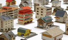 The 387 houses of Peter Fritz, 1950s-60s. Cardboard, matchboxes, wallpaper scraps and magazine pages.