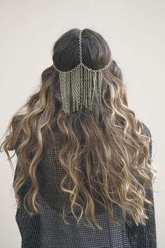 hair colors, crown, hair pieces, chains, lock, haati chai, headpieces, soft curls, bohemian