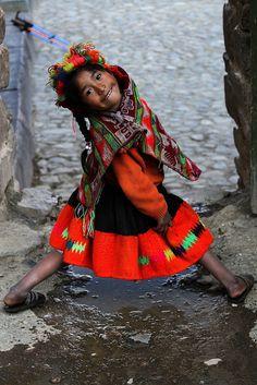 young girl of Peru