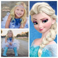 Dress up like Elsa from Disney's Frozen by wearing similar shimmer in your hair - The Sapphire Shimmer Band at www.enchantedshimmer.com