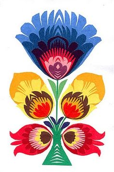 Polish paper cutting art called Wycinanki. More unexpected, beautiful flower options for a post-mastectomy cover-up tattoo. [p-ink.org]