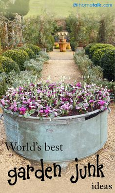 World's BEST Garden Junk Ideas!