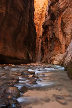 The awe inspiring Narrows of Zion National Park, Utah.