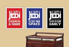 3 Star Wars Little Jedi Lessons children by modernhomeprints, $24.99