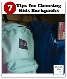 Tips for choosing kids backpacks for back to school! #parenting #moms #backtoschool #shopping