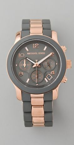 Michael Kors    Runway Time Teller Watch  Style #:MKWAT40018  $225.00. Obsessed