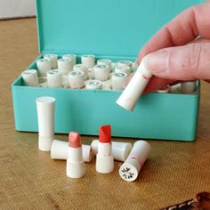 Vintage Avon lipstick sample kit. Loved playing with these!