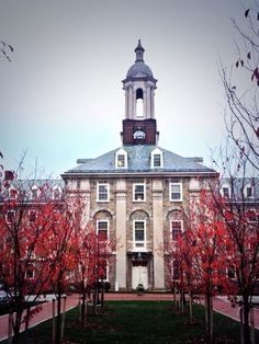 10/16/14 -- Handsome Old Main shot by Geoff Rushton taken from the north parking area that was renovated this summer.