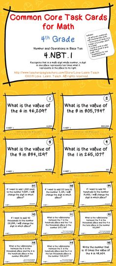If your students need more place value practice, you need these task cards! Three sizes so you can use them in different ways. Click to see how they align to the common core! $