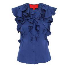Silk Flutter Sleeve Blouse - £225.00