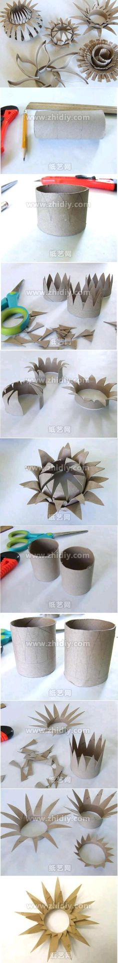 DIY Toilet Roll Flower