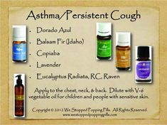 Asthma/ Persistent Cough Anybody interested in purchasing the oils or learning more can email me at:info@allaboutumassage.ca  Or follow us on FB: www.facebook.com/allaboutumassage  Distributor: All About U Massage #1368262