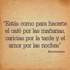 Cafe por las mañanas...