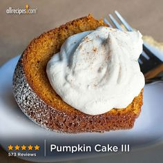 "Pumpkin Cake III | ""I look forward to fall every year just so I can make this cake! It's so moist and flavorful. Foolproof recipe."""