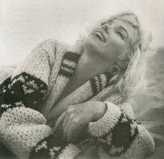 photo sessions, icon, beach photos, marilyn monroe, happy birthdays, at the beach, norma jean, cozy sweaters, marilynmonro