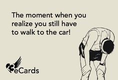 HA! Especially at the end of a race!