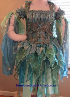 DDNJ Choose Colors and Fabrics Renaissance Fairy Pixie Sprite 4pc Cosplay Costume Larp Anime Plus Custom Made ANY Size Elf Medieval Con