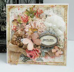 Gorgeous shabby chic handmade card #butterflycard #handmadecard