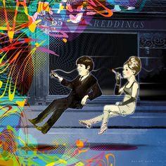 """http://www.thecopperhousegallery.com/artists/77-The-Illustrated-Beatles/works/  O coletivo irlandês """"Illustrated Beatles"""" [Beatles Ilustrado] inspirou-se nas músicas mais clássicas do quarteto para produzir ilustrações incríveis. Será que você consegue adivinhar qual canção é esta ai?"""