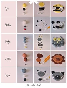 Cute: How to make animal cupcake toppers.