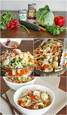 Inside-Out Chinese Spring Roll Salad