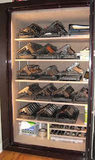 Home for 116 with room for 44 more - 160 Handguns on 8 Gun Armory Racks
