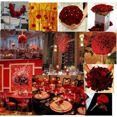 wedding themes | Picture of Red Wedding Centerpieces Decor Ideas Wedding in Red wedding ...
